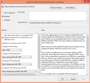 Addition BitLocker Security